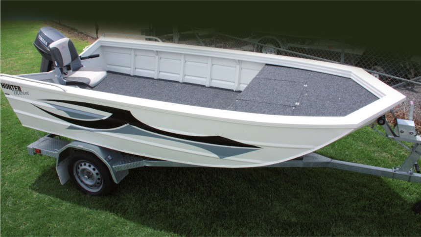 Custom manufactured inland aluminum boat for larger waterways