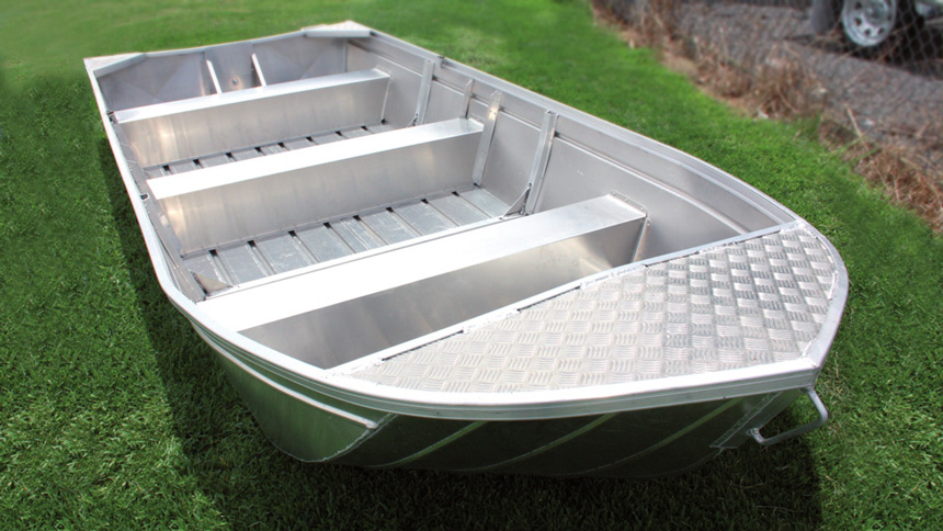 Inland aluminum boat for stability, manufactured in Australia